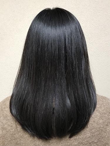 ツヤツヤの理想的な髪になり、気持ちが前向きに♪