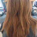 ブリーチ毛に出来る範囲で良いから縮毛矯正をかけたいとご相談のお客様(施術者 ツジ)